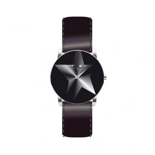 Thierry Mugler 4705201 - Reloj analógico de cuarzo para mujer con correa de piel, color negro