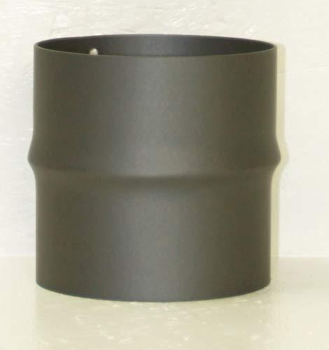 LANZZAS Rauchrohr Ofenrohr Kaminrohr Erweiterung Stahl blank unlackiert Ø 120 mm auf Ø 130 mm -