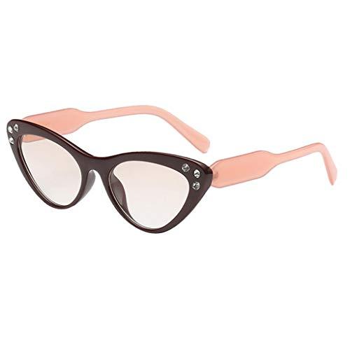 Baoblaze Retro- Unisex Katzenauge-Formfrauen Eyewear Anti-UVsonnenbrille - Champagner
