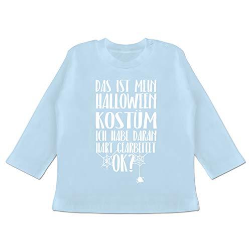 Anlässe Baby - Das ist Mein Halloween Kostüm - 3-6 Monate - Babyblau - BZ11 - Baby T-Shirt ()