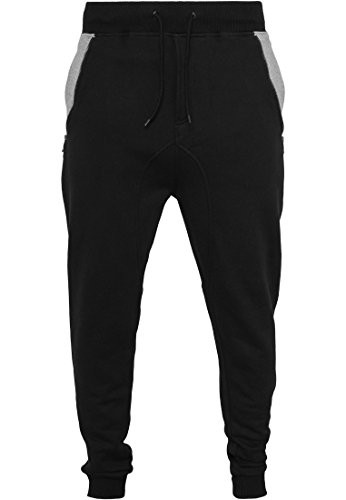 Urban Classics Sweatpants Side Zip Contrast Pocket Nero/Grigio