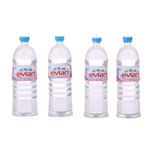 Xuniu 4 Unidades Juego de Botellas de Agua Juguetes de Casa de Muñecas Miniatura Accesorios de Bebida...