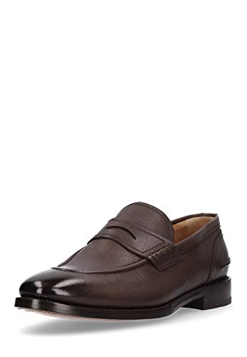 BALLY Herren Slipper Schuhe Mokassins echt Leder Halb Loafer bequem Bally Loafer