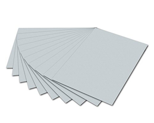 folia 6480 - Tonpapier hellgrau, DIN A4, 130 g/qm, 100 Blatt - zum Basteln und kreativen Gestalten von Karten, Fensterbildern und für Scrapbooking (Graues Papier)