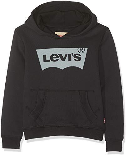Levi's Kids Jungen Kapuzenpullover N91503A, Schwarz (Black 02), 140 (Herstellergröße: 10A) -