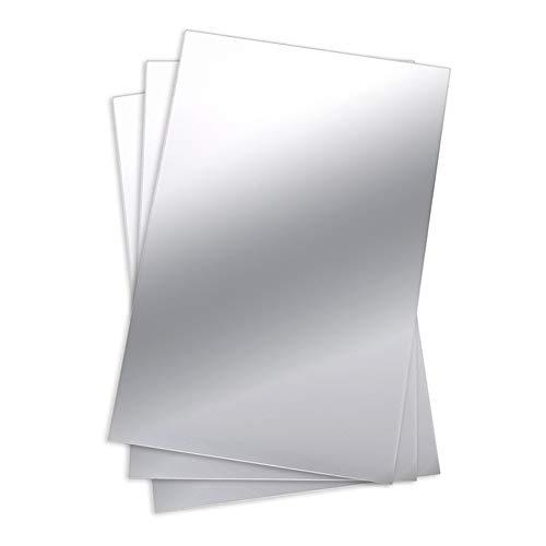 Kimmyer 24 x 39 Zoll Flexible Spiegelplatten Spiegel Wandaufkleber Selbstklebende Kunststoff Spiegel Fliesen für Wohnkultur - Spiegelfläche Film dekorative Wand - Dekorative Wand-fliesen