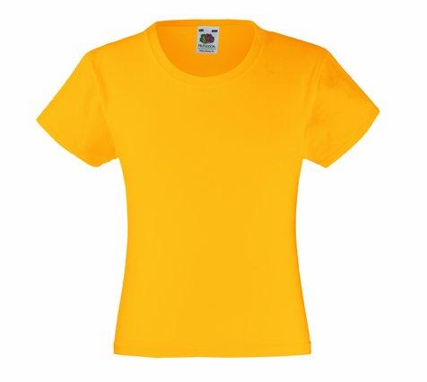 Mädchen T-Shirt Girls Kinder Shirt - Shirtarena Bündel 116,Sonnenblumengelb