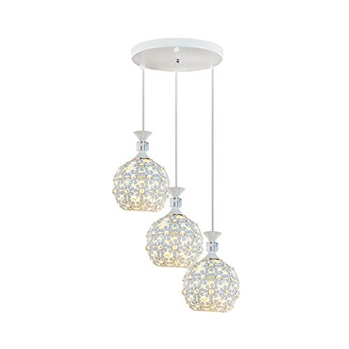 Creativo Cristal lámpara colgante Moderno 3 luces Personalidad Luz de techo interior Decoracion Iluminación Lampara para Dormitorio, sala, cocina, mesa de comedor, comedor, estudio, etc.