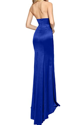 Prom Style Damen Attraktiv V-Ausschnitt Rueckenfrei Abendkleider  Ballkleider Cocktailkleider Mermaid Etui Lang Partykleider Traubelila ...