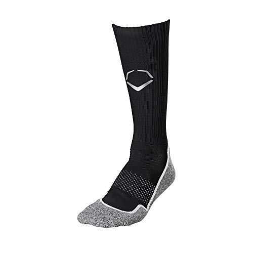 EvoShield Trainingssocken, Herren, Evo Training Crew Sock Black, schwarz, X-Large -