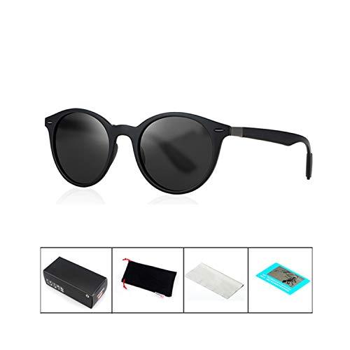Sport-Sonnenbrillen, Vintage Sonnenbrillen, Classic Polarisiert Sunglasses Men Vintage Luxury Brand Round Sun Glasses For Women Driving Glasses UV Okulary Gafas De Sol Mujer Black Black B42961