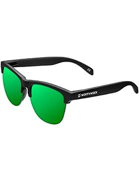 Northweek Gravity Venice - Gafas de Sol policarbonadas, Negro/Verde
