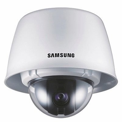 G7G1 - SAMSUNG SCC-C7325P PTZ DOME CCTV CAMERA VANDAL-RESISTANT FEATURE 10X ZOOM