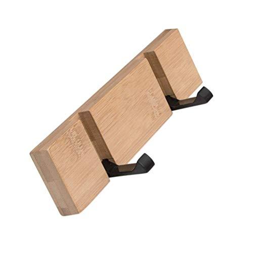NewbieBoom Joshipin Garderobenhaken aus Holz Garderobenhaken Modern und einfach Sparen Sie Platz für Jacken Mäntel Schals Taschen und mehr (Farbe, Holzfarbe, Größe, Stil 02