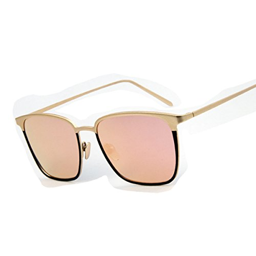 Wkaijc Sonnenbrille Farbfilm Flach Sonnenbrille Avantgarde Innovative Freizeit Licht Persönlichkeit Mode ,Pink