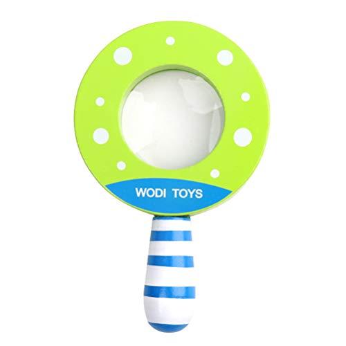 Toyvian Holz Lupe Kreative Lustige Pädagogisches Spielzeug Lupe für Baby Infant Kid (Grün)