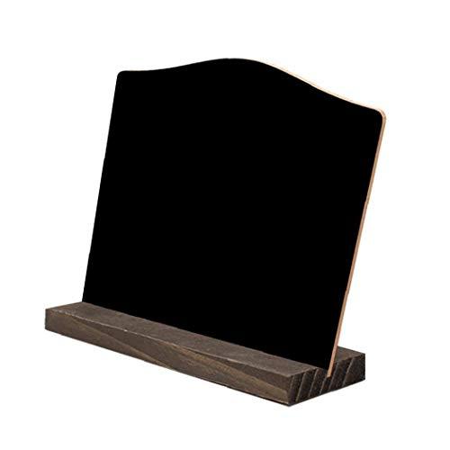 XKJFZ Home Decor Kleine Slate Doppelseitige Kreide Holz Kreative Gebogene Form Mini Tisch Anzeiger Zeichen Basierend Rat Für Hotel Bar