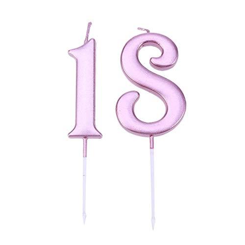 rtstagstorte Kerzen für 18. Geburtstag Hochzeitstag Partydekorationen Lieferungen Rose Gold ()