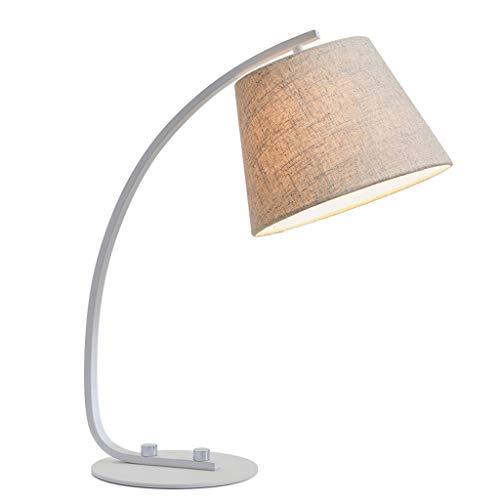 Beige Glasschirm (WANG XIN Stoff Tuch Lampenschirm Schreibtischlampe Taste Schalter Buch Einstellbare Design Zimmer Schlafzimmer Nacht Student Kinder Studie Schreibtisch Lesen Tischlampe (Farbe : Beige))