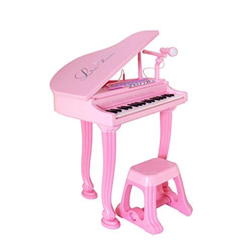 GXYGWJ Piccolo Pianoforte con Microfono Giocattolo per Tastiera per Bambini 3-6 Anni Ragazza Microfono Musica Giocattolo di Illuminazione Tastiera per Bambini Piano (Color : Pink)