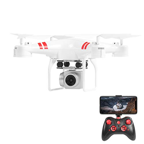 jfhrfged Weitwinkelobjektiv 4K HD Kamera Quadcopter RC Drohne WiFi FPV 1800Mah Batterie -