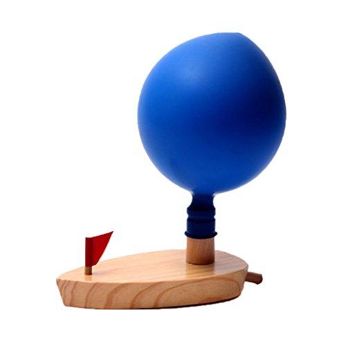MagiDeal Classique Ballon Bateau en Bois Jeux de Bain Piscine Propulsé Paddle Jouets Enfant Cadeau