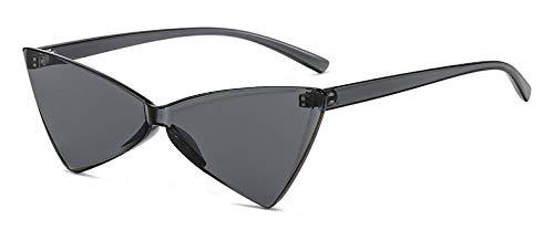 CQYYDD RedSonnenbrille Uv400 Frauen Dreieck Transparent Cat Eye Sonnenbrille Schmetterling Party klar gelb voll schwarz
