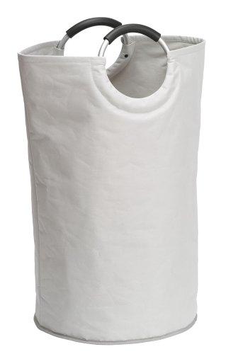 Wenko 3440001100 Wäschesammler Jumbo Stone - Multifunktionstasche, Fassungsvermögen 69 L, Polyester, 38 x 72 x 38 cm, Beige (Sammler Große)