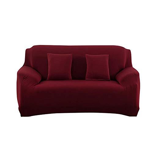 Aolvo copridivani elasticizzati copridivano universale in tessuto moda per casa decorativa 2 posti vino rosso