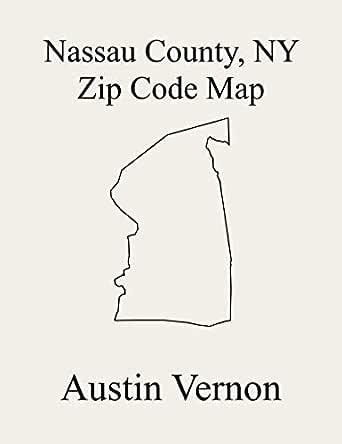 Nassau County New York Zip Code Map Includes Hempstead North