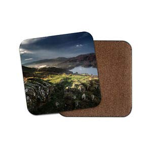 Worlddream Coniston Water Seakes Untersetzer - English Heritage Coast Britain Reisegeschenk -