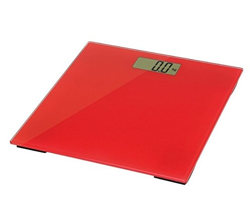Omega OBSR Electronic Personal Scale Rechteck Red Personal Scale - Personal Scales (LCD, 30,5 x 72 mm, Red, 6 mm, CR2032, 1 PC (S))