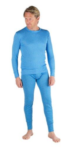 Thermounterwäsche für Herren von Socks Uwear mit langärmeligem Oberteil und langer Unterhose Gr. Large, blau
