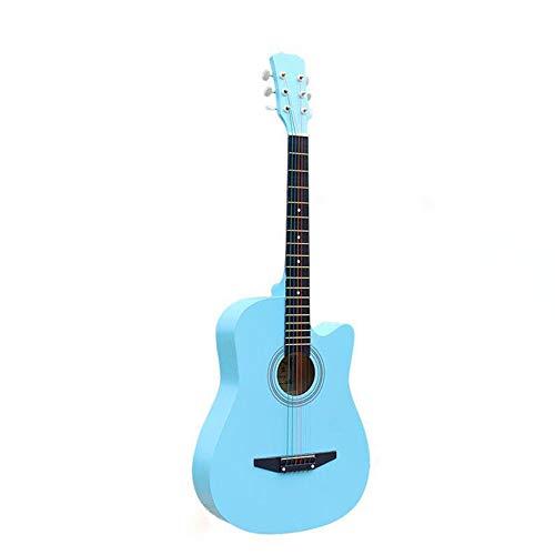 XHHWZB 38'guitarra acústica con funda de guitarra, correa, sintonizador y Pick 6 cuerdas de acero para principiantes negro