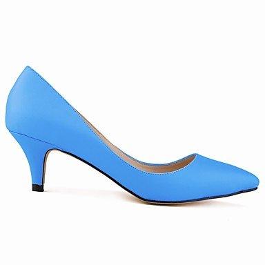 Moda Donna Sandali Sexy donna tacchi Primavera / Autunno cinturino alla caviglia PU / Ufficio sintetico & Carriera / Casual Stiletto Heel OthersBlack / blu Light Blue
