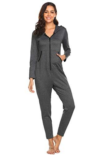 EKOUAER Damen Weihnachten Baby Body Adult Jumpsuits Pyjamas xx-Large grau empfehlen Bigger