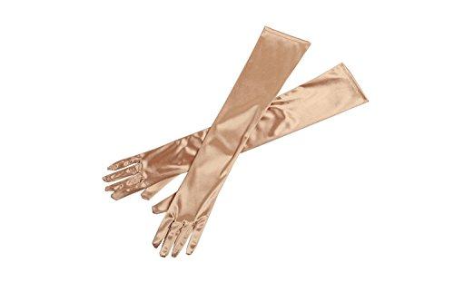 Treu 3 Farben Mode Sexy Frauen Über Ellenbogen Handschuhe Schwarz Weiß Rot Lange Satin Stretch Handschuhe Für Dame Mädchen Zubehör 54 Cm Länge Bekleidung Zubehör