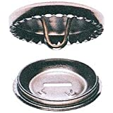 25 x 23mm Metal Cover Buttons. Make your own fabric covered buttons. Crafts / Haberdashery / Upholstery etc.