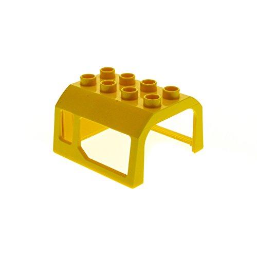 1 x Lego Duplo Eisenbahn Aufsatz gelb 2x4 Kabinen Dach Lokomotive Fenster Zug für E-Lok Baustelle Kran Set 4988 5691 5653 3771 51546