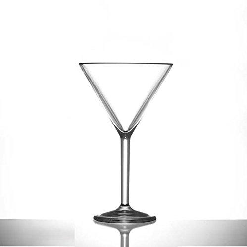 Martini-Glas, Kunststoff, 7 oz, kann hunderte Male wiederverwendet werden, praktisch unzerbrechlich, Set/12 Made in EU