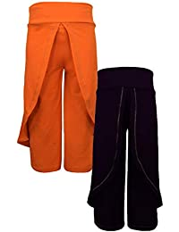 Lil Orchids Girls Pack of 2 Royal and Black Color Harem Pant(LO-2PCK-HARM-PANT-CMB-2)