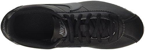 Nike Cortez (Gs), Sneakers Basses Mixte Enfant Noir (Black/white)