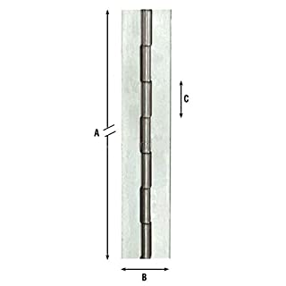Metre or tape Weld-On Hinges Art.1200 Size 1.98 MT