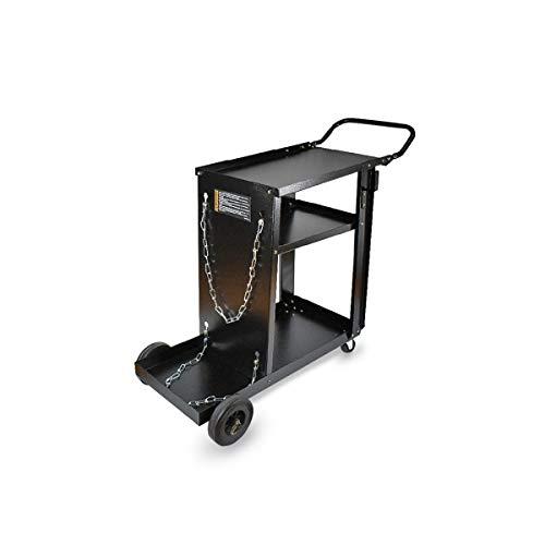 Carrello porta bombola-saldatrice-accessori. Portata 90 Kg. Misure 800x333x800/h mm