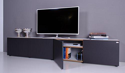 TV Lowboard NOOMO weiß – anthrazit - 3