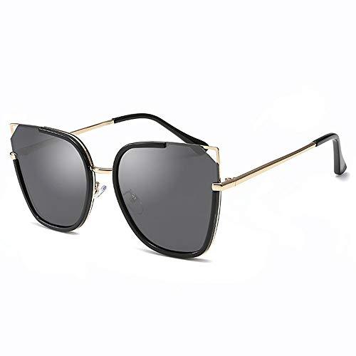 XUELIANG Sonnenbrille weibliche Flut Sonnenbrille rundes Gesicht Anti-UV-Katze Ohr Brille