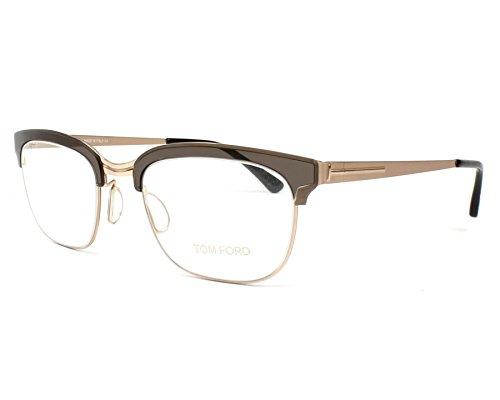 Tom Ford - FT 5393, Rechteckig, Metall, Herrenbrillen, MATTE GOLD BROWN(047 I), 51/20/140