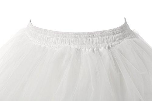 Phoenix® 1950 Petticoat Reifrock Unterrock Petticoat kleid 50er Hochzeit Petticoat krinoline hoopless Rock n Roll Unterröcke kurz feines Petticoat Tutu Elfenbein