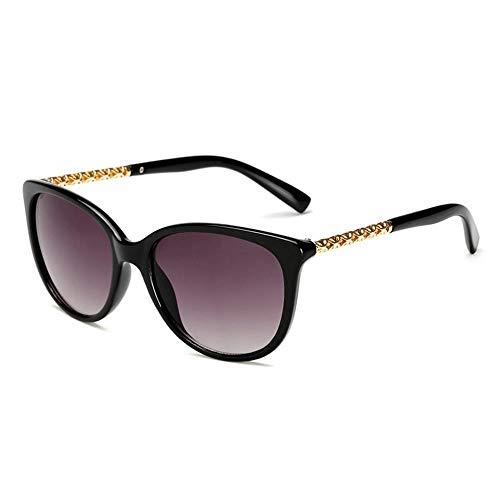 ZHOUYF Sonnenbrille Fahrerbrille Übergroße Sonnenbrille Frauen Ton Sonnenbrille Frauen Retro Big Frame Sonnenbrille Hohlrahmen, A