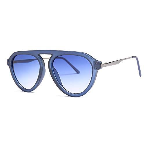 WWVAVA Sonnenbrillen 2019 Mode Moderne Luftfahrt Stil Zwei Punkte Sonnenbrille Kühlen Farbton Ozean Objektiv Markendesign Sonnenbrille, c8